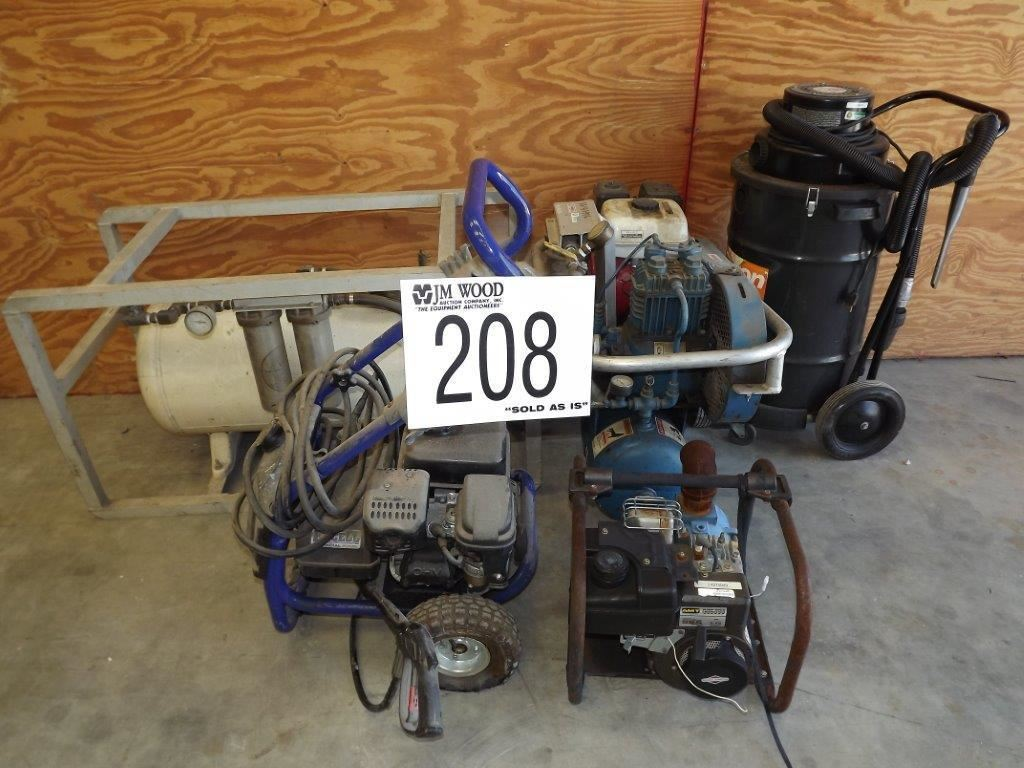 Pump pressure washer air compressor vacuum j m wood