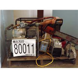 Vacuum Pumps, Electric Motor, Chain Saw 20, Aerator
