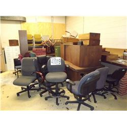 Misc. Desks, Chairs, File Cabinet