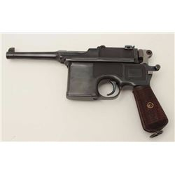 "Mauser Model C96 ""bolo"" semi-automatic  pistol, 9mm caliber, 4"" barrel, re-blued  finish, wood grips"