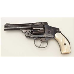 "Smith & Wesson New Departure hammerless DA  revolver, .38 caliber, 3.25"" barrel, blued  finish, pear"