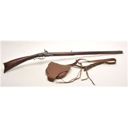 "Hatfield reproduction of a full stock  percussion rifle, .50 caliber, 38.5"" octagon  barrel, brown a"