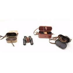"Lot of 3 items as described: 1. Naval optical device in case. The lid is  marked ""Marine Nationale,"