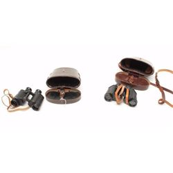 Lot of 2 binoculars as described: 1. Huet Paris marked 6x30 1935 date in case.  Almost fine. 2. Hens