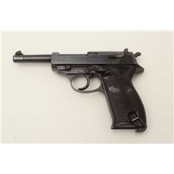 "P-38 DA semi-automatic pistol by CYQ, 9mm  caliber, 5"" barrel, military finish and  grips, no magazi"