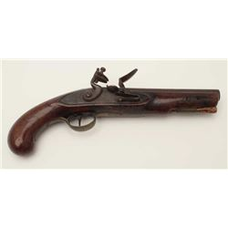 Late 18th to early 19th century flintlock  pistol assembled for parts with what appears  to be an Am