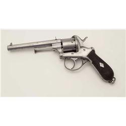 Large size double action pinfire revolver  with Belgium and A.F. proof (Possibly A.  Francotte) with