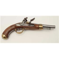 "French Napoleonic era flintlock military  issue pistol dated 1811 with ""Mfg. Imp de St.  Etienne"" ar"