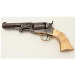 "Colt Model 1849 Pocket percussion revolver,  .31 caliber, 4.25"" octagon  barrel that  appears to hav"