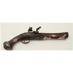 Continental made flintlock blunderbuss pistol  made for eastern market circa late 18th to  early 19t