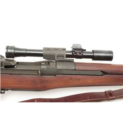 U.S. Springfield M1D semi-automatic sniper  rifle, .30 caliber, military finish, SA  barrel dated 10
