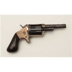 "Slocum ""Sliding Sleeve"" teat fire revolver,  S/N 8857. In very good condition with 30%-50%  original"