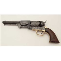 "Colt 2nd Contract First Model Dragoon  percussion revolver (""Fluck""), .44 caliber,  7.5"" barrel, woo"