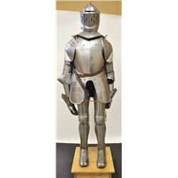 Early to mid-20th century fully articulated  suit of armor probably English made to  decorate castle