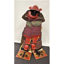 Late Edo period (Last emperor period) suit of  Japanese armor. Hardened leather that is  painted and