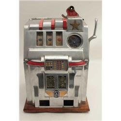 "Pace Comet 5 cent slot machine, ca. 1930's;  approximately 25"" in height, 17"" wide and 15""  deep, on"