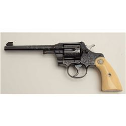 "Fantastic Colt Officer's Model Target DA  revolver, .38 caliber, 6"" barrel, blued  finish, factory e"