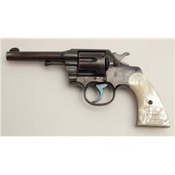 "Historic Colt Army Special DA revolver, .32  W.C.F. caliber, 4.5"" barrel, blued finish,  pearl grips"