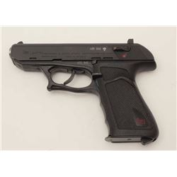 "H&K Model P9S semi-automatic pistol, .45 ACP  caliber, 4"" barrel, black finish, checkered  black gri"