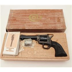 "Colt New Frontier SAA revolver, .22 caliber  with extra cylinder, 4.4"" barrel, blued and  case harde"