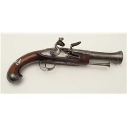 French naval style blunderbuss circa  1780-1800s with iron barrel and mounts. In  very good plus con