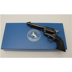 "Colt 4th Generation SAA revolver, .45  caliber, 5.5"" barrel, blued and case hardened  finish, checke"