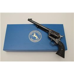 "Colt 4th Generation SAA revolver, .45  caliber, 7.5"" barrel, blued and case hardened  finish, checke"