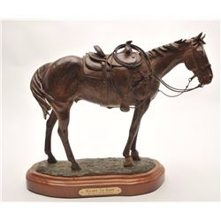 "Original bronze entitled ""Ready to Rope"" by  Bill Nebeker of Prescott, AZ, #25/25,  approximately 13"