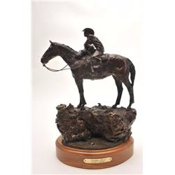 "Original bronze entitled ""Holdin' Herd"",  #7/40 by well-known artist Jasper D'Ambrosi,  approximatel"