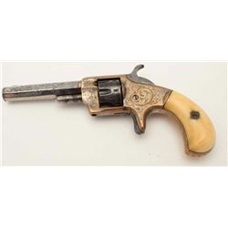 "Whitneyville .22 caliber spur trigger  revolver, 3"" octagon barrel, New York  engraved in Nimschke s"