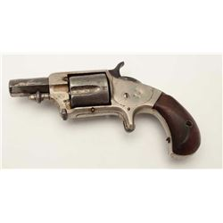 "Whitney spur trigger .38 caliber revolver, 2""  octagon barrel, nickel finish, rosewood  grips, S/N 7"