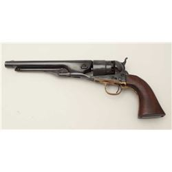 Colt Model 1860 Army percussion revolver, .44  caliber, 4-screw frame, mixed numbers, frame  S/N 231
