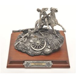 "Pewter sculpture by Fran Barnum and issued by  Chilmark Collectors Society entitled ""The  Rescue"", #"