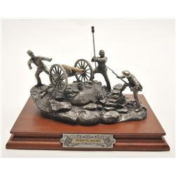 """Pewter sculpture by Fran Barnum and issued by  Chilmark Collectors Society entitled  """"Pickett's Char"""