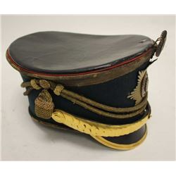 Russian Shako late 19th to last Czar era in  very good condition. Seldom offered. Regiment  not iden