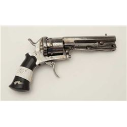 Belgium medium frame double action pinfire  revolver with folding dagger. No makers marks  just Elgi