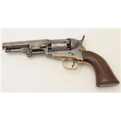 "Colt Pocket Model 1849 percussion revolver,  .31 caliber, 4"" octagon barrel, wood grips,  S/N 138841"