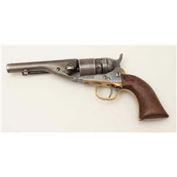 """Colt Conversion of a Pocket Navy revolver  with ejector, .38RF caliber, 4.5"""" barrel,  wood grips, S/"""