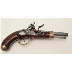 Mfg. Imperial D, Napoli Italian military  style flintlock heavy cavalry pistol; made  during the tim