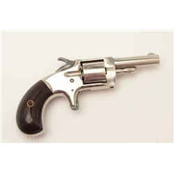 "Monitor spur trigger revolver by Whitney, .22  caliber, 2.25"" round barrel, nickel finish,  non-flut"