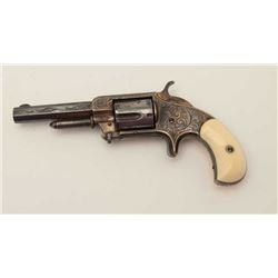 "Whitneyville 5-shot .32 caliber spur trigger  revolver, 3.25"" barrel, nickel, fully deluxe  N.Y engr"