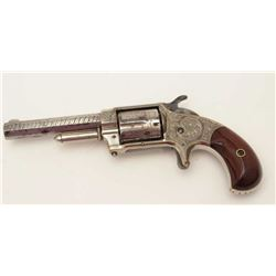 "Whitneyville .32RF caliber spur trigger  revolver, 3.5"" octagon barrel, 5-shot, fancy  New York engr"
