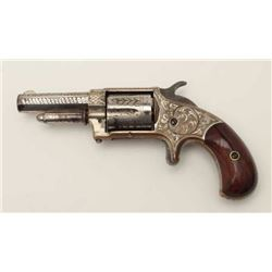 "Whitneyville .32 caliber spur trigger  revolver, 2.5"" octagon barrel, nickel finish,  deluxe engravi"