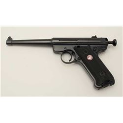 "Ruger MK III semi-automatic target pistol  with Val Quartzen bolt, .22LR caliber, 6""  barrel, blued"