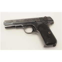 "Colt Model 1903 semi-automatic pocket pistol,  .32 caliber, 4"" barrel, replaced front  sight, blued"