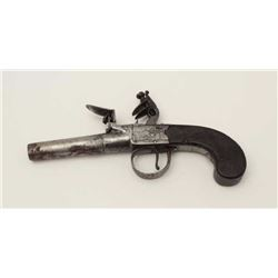 "Center hammer flintlock pocket size pistol  signed ""Ketland, London"". Measures 7 ¼""  overall with a"