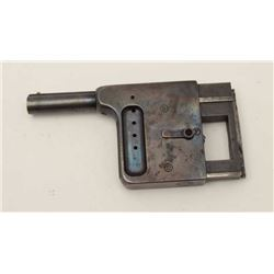 Gaulois 8mm extra short rimfire palm pistol  missing dust cover and hard rubber grip  panel. 50% blu