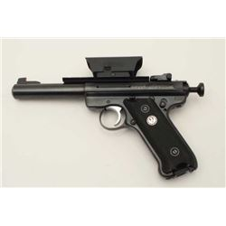Ruger MK III Target semi-automatic pistol  with Val Quartsen bolt, loaded chamber  indicator, .22LR