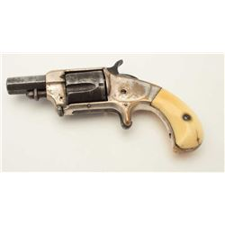 "Whitneyville .38RF caliber spur trigger  revolver, 2"" octagon barrel, ivory grips, S/N  44, in overa"