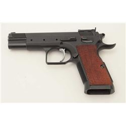 "EAA Witness DA semi-automatic pistol,  Italian-made, .38 S.A., 4.5"" barrel, mat  black finish, no ma"